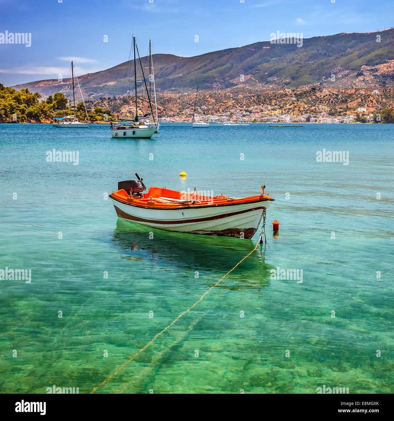 Bateau de pêche, Grèce Photo Stock