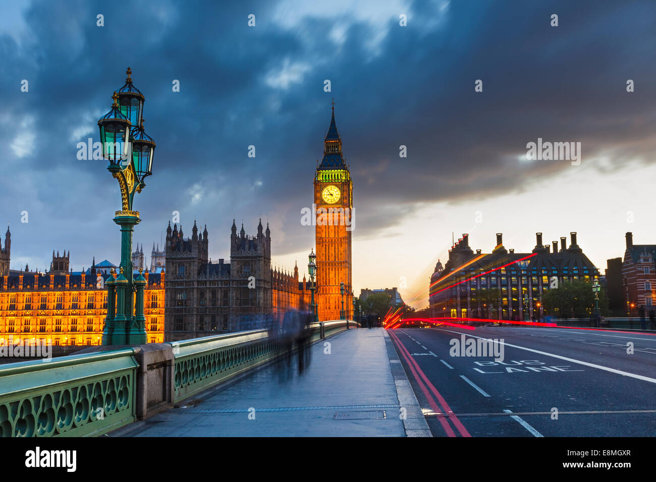 Big Ben de nuit, Londres Photo Stock