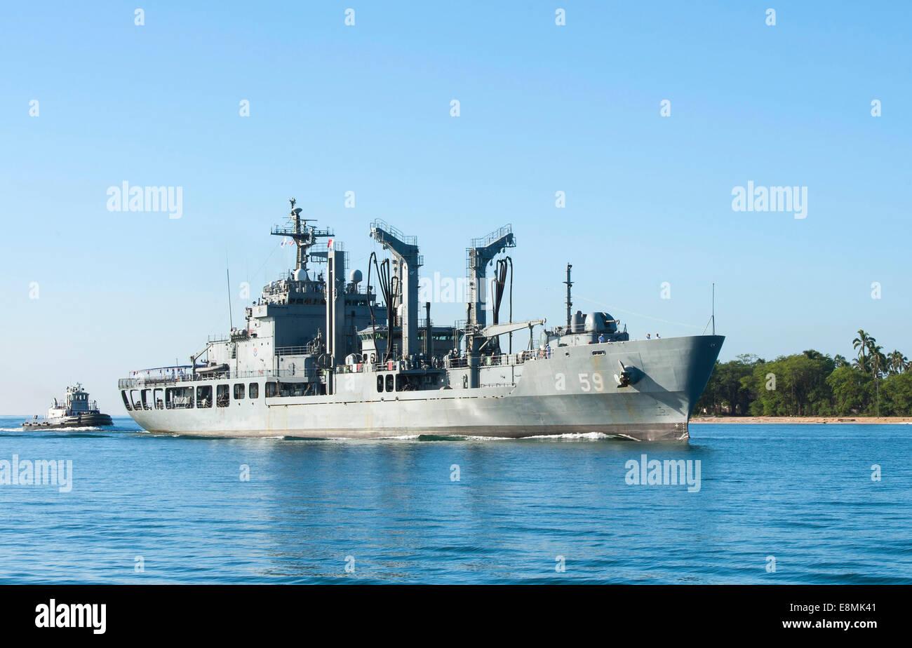 Pearl Harbor, le 22 novembre 2013 - La République de Corée CORÉE Navire de soutien de combat rapide Photo Stock