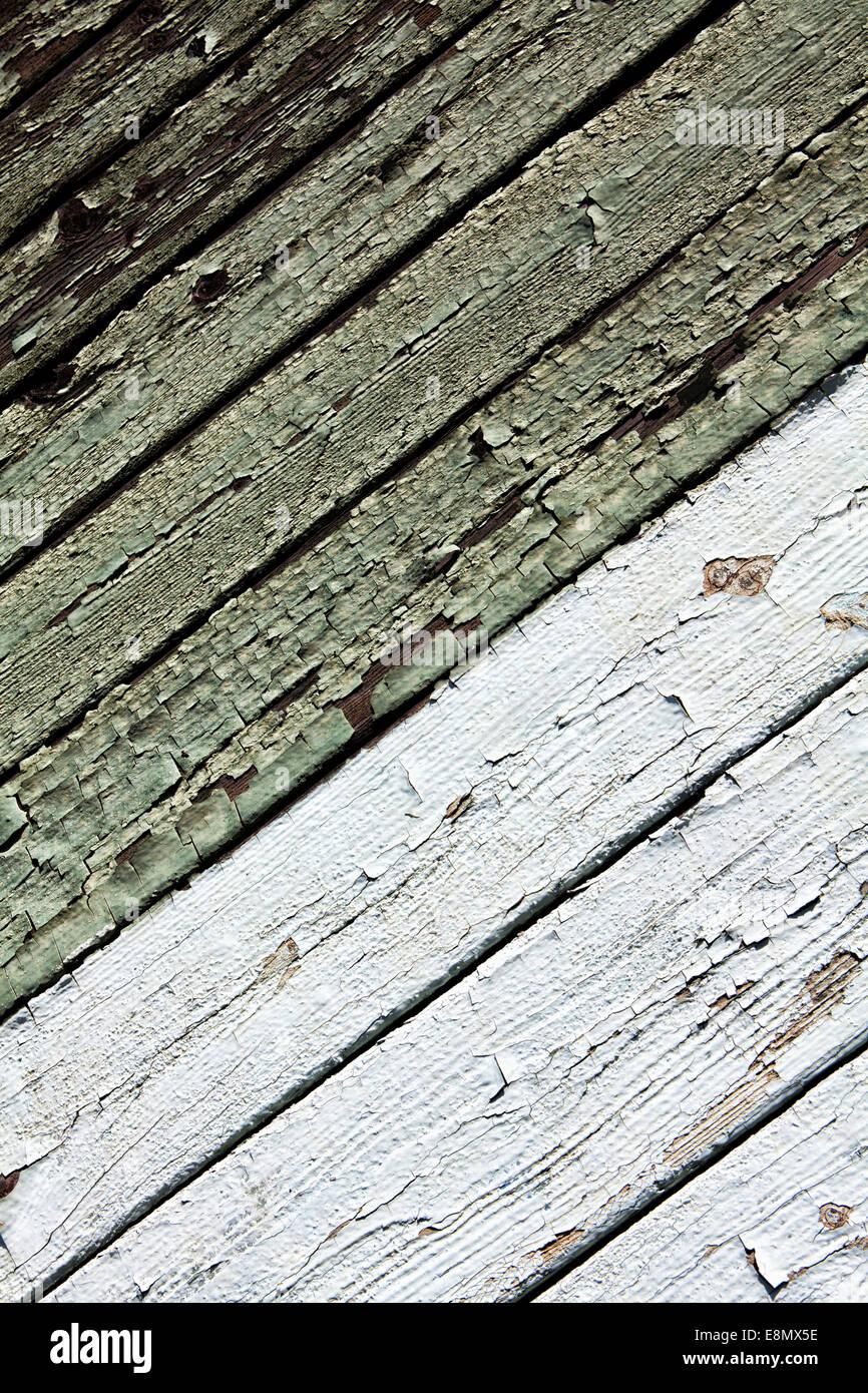 D'écaillage de la peinture sur une surface en bois Photo Stock