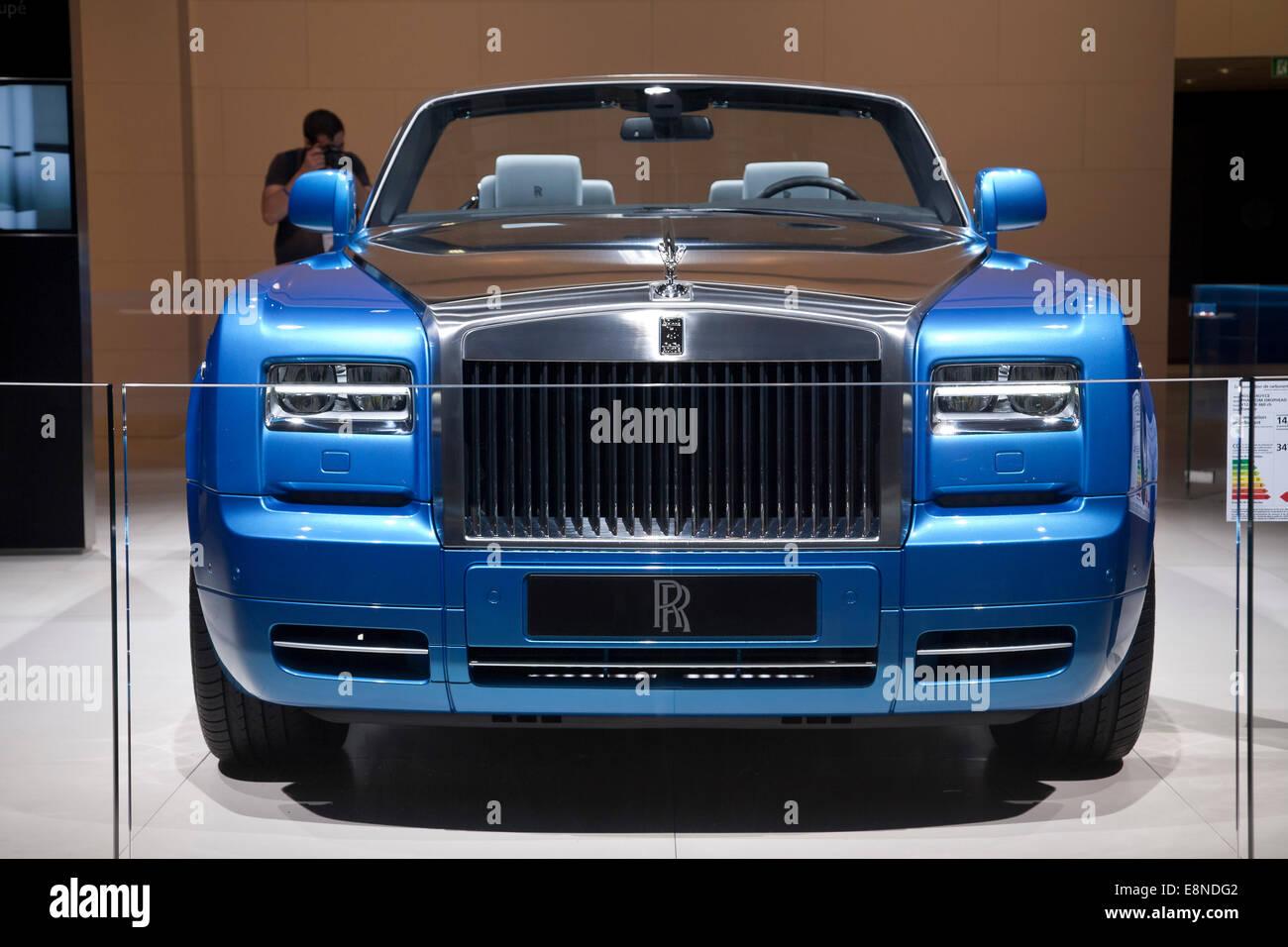 Rolls-Royce Phantom Drophead Coupé Waterspeed Collection Paris Motor Show Mondial de l'automobile 2014 Photo Stock