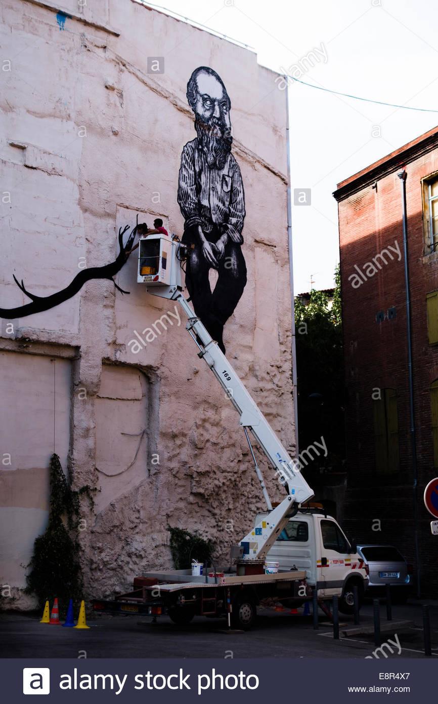 Le Graffiti dans la rue, Perpignan, France. Photo Stock