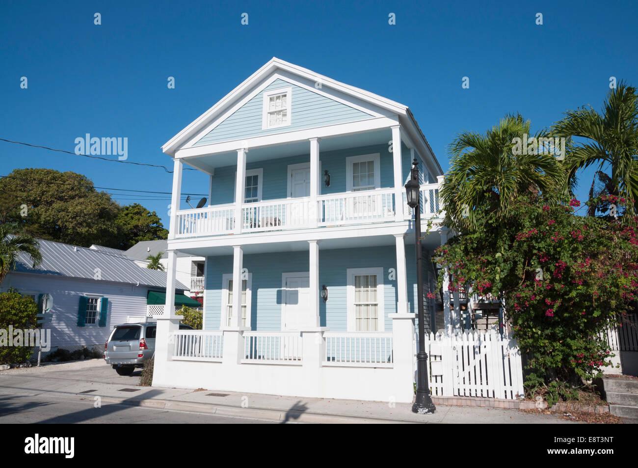 Blue House de Key West, Floride, USA Banque D'Images