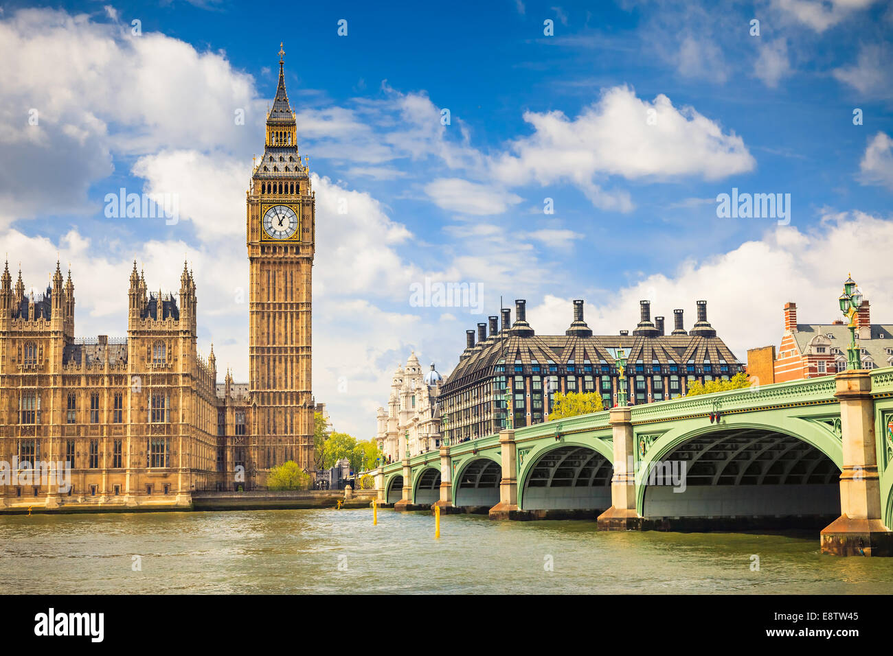 Big Ben et les chambres du Parlement Photo Stock