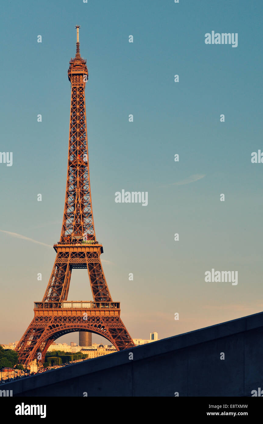 Diagonale de Eiffel Photo Stock