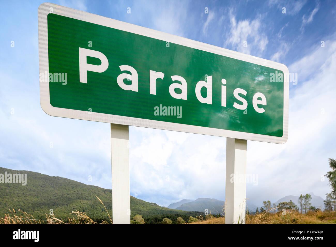 Le paradis est un endroit rural pastorale de la région de l'Otago en Nouvelle-Zélande Île du Photo Stock