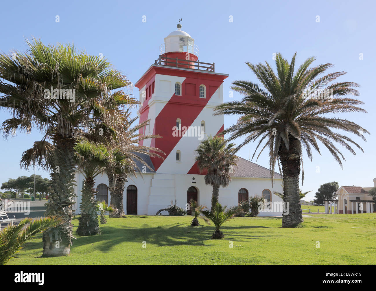 Mouille point phare de green point Cape town Photo Stock
