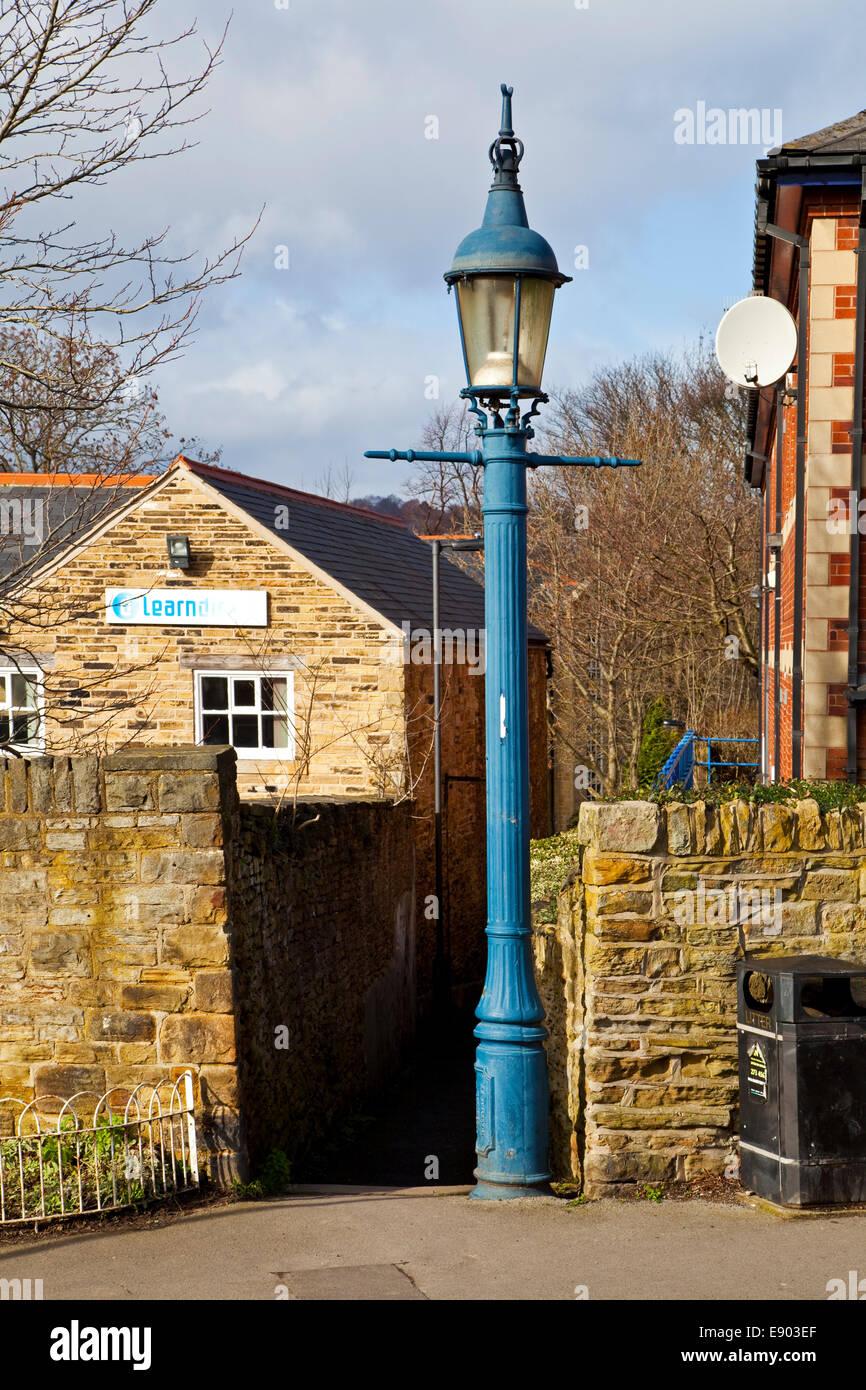 Une lampe à gaz de méthane d'origine Sheffield South Yorkshire, UK Banque D'Images