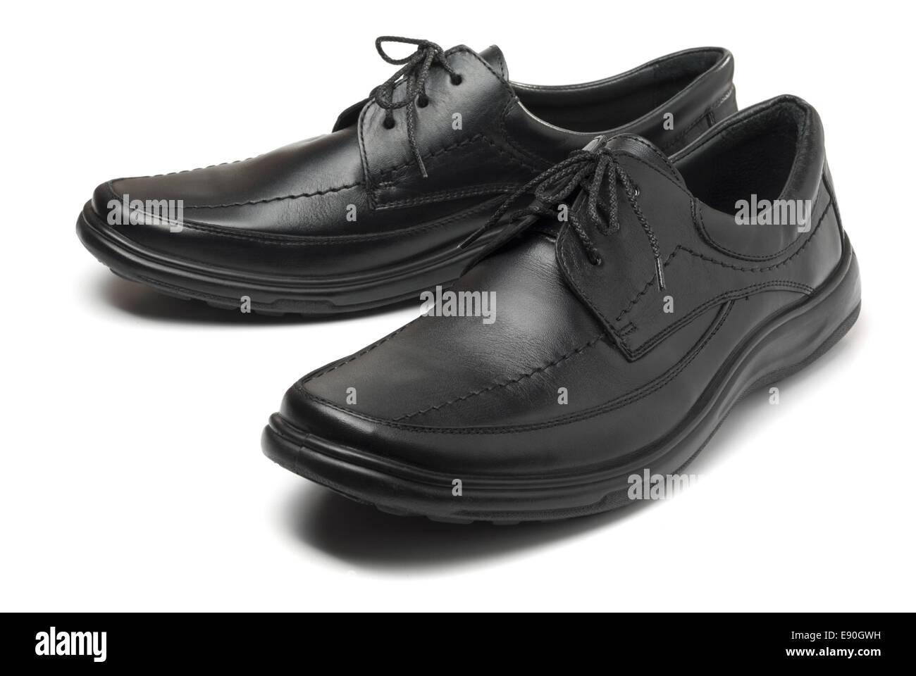 Chaussures noires Banque D'Images