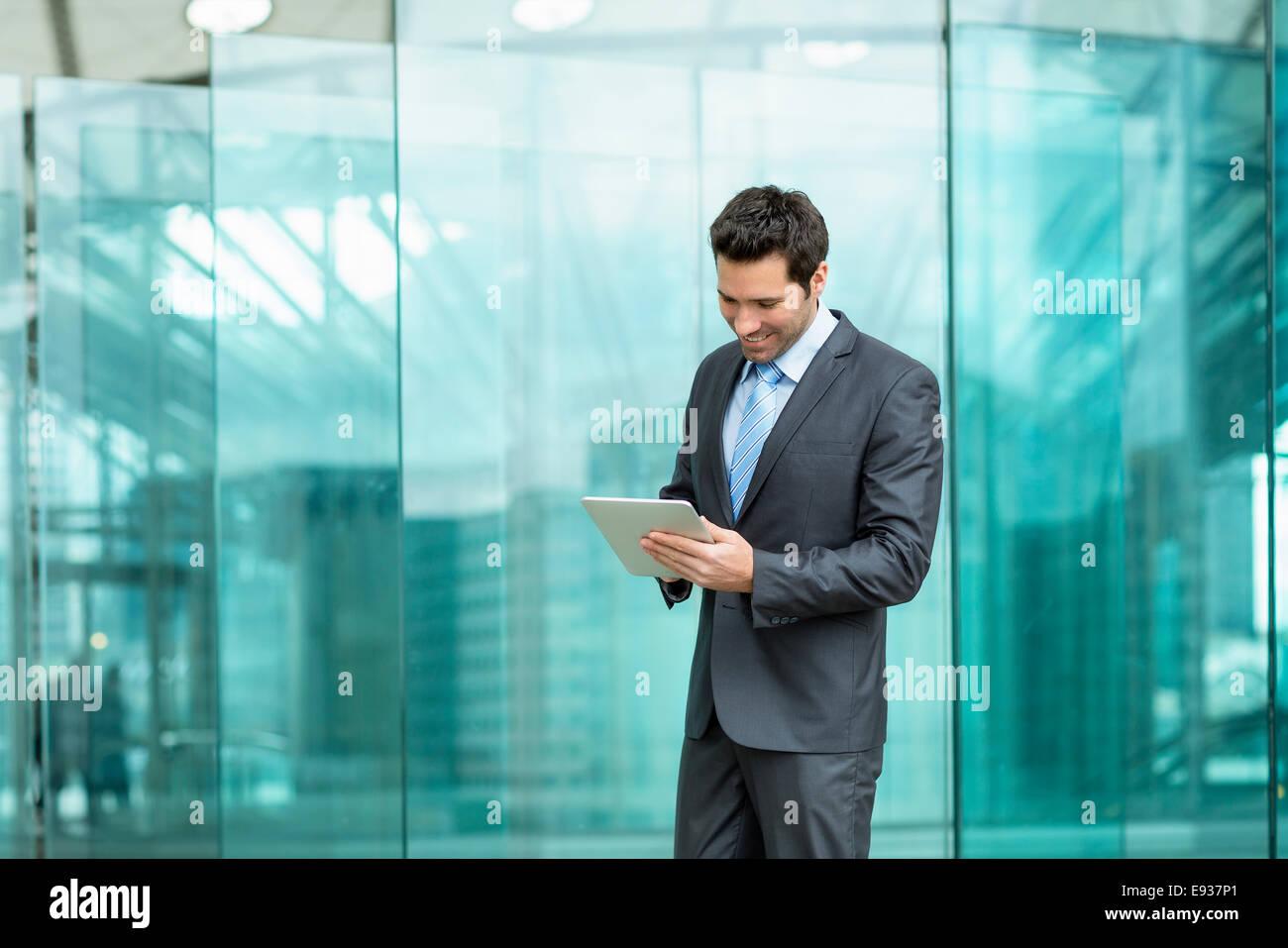 Businessman using a Digital Tablet Photo Stock
