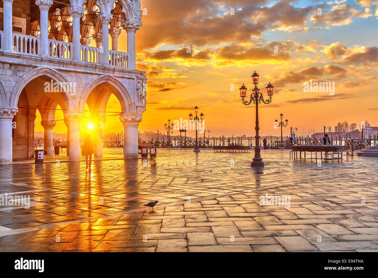 Lever du soleil à Venise Photo Stock