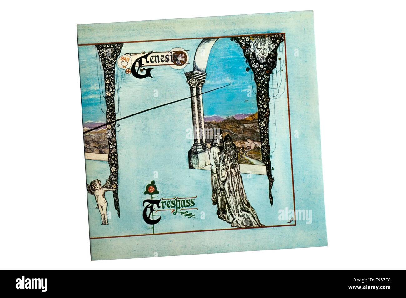 L'intrusion a été le deuxième album studio de Genesis, enregistré et sorti en 1970. Photo Stock