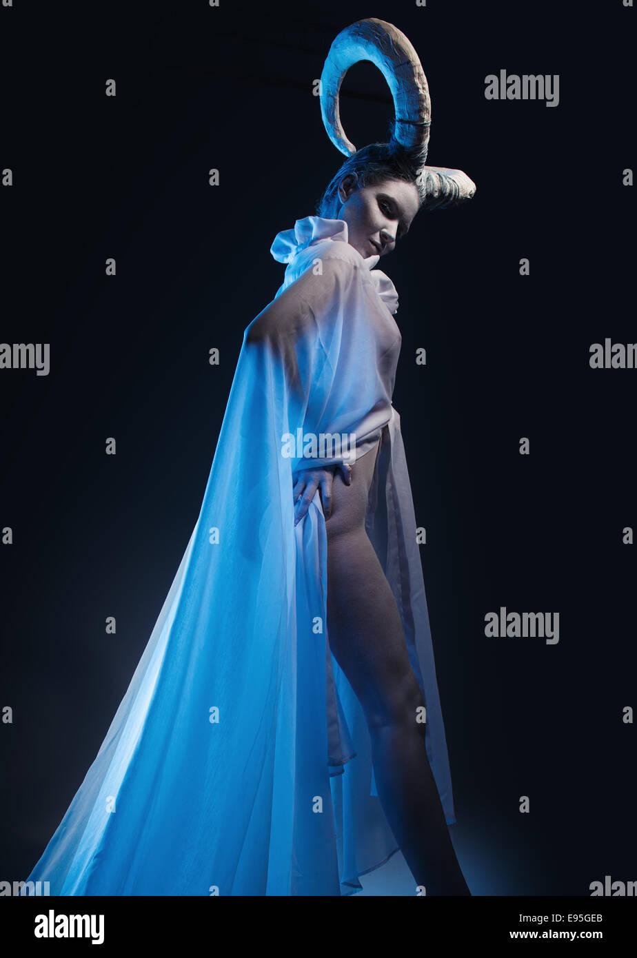 Femme avec corps de chèvre-art Photo Stock