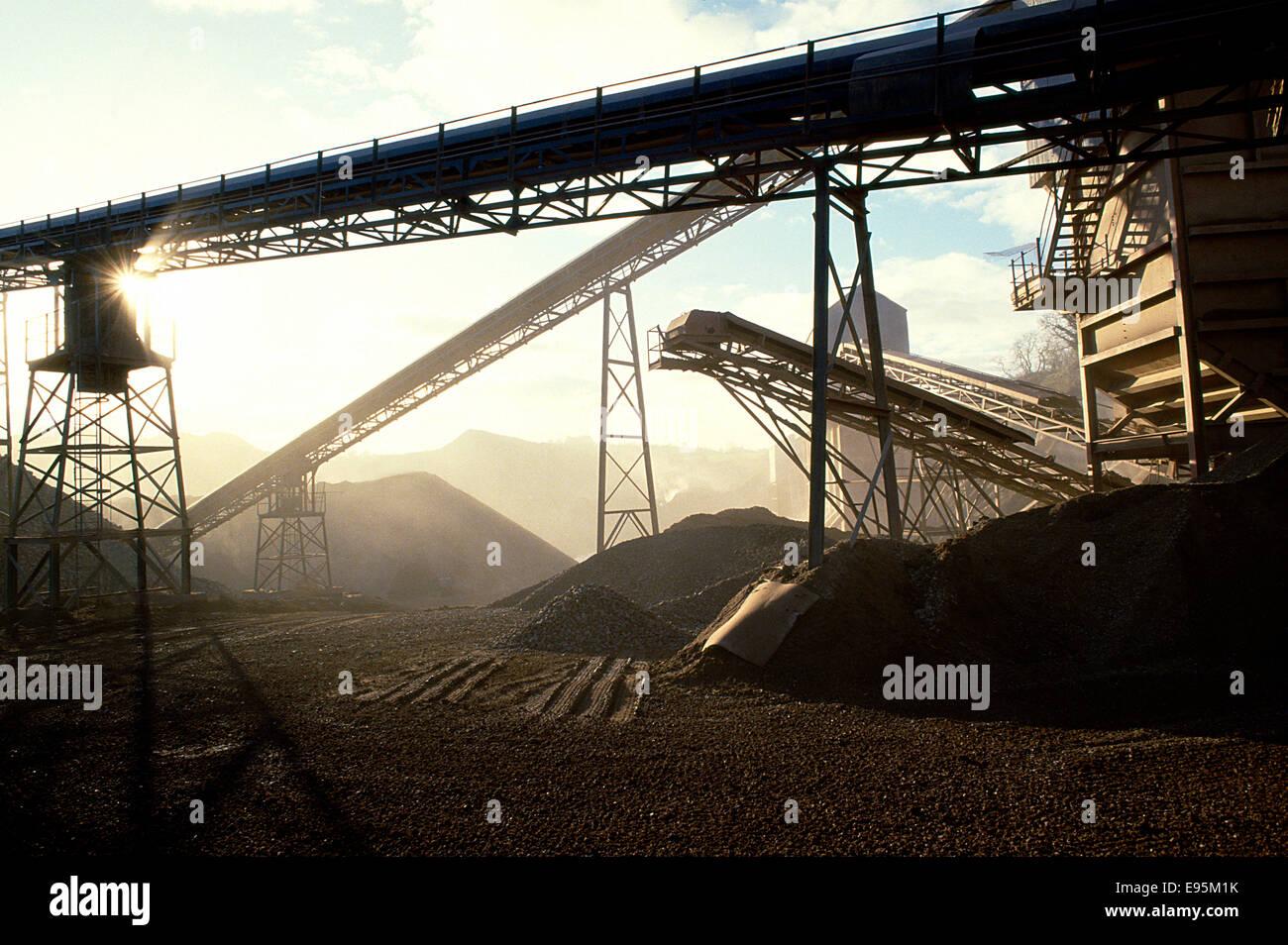 Triage du charbon de l'industrie Photo Stock