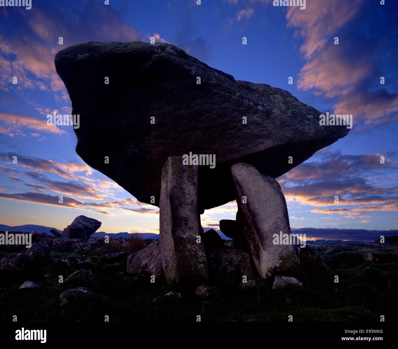 Plus Kildooney Dolmen, Ardara, Co Donegal, Irlande Photo Stock