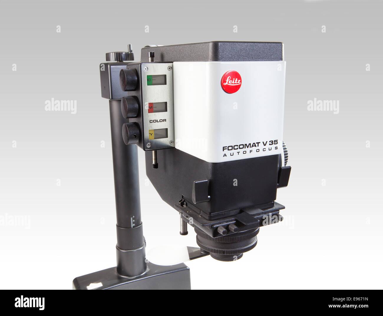 Agrandisseur photographique Leica Focomat V-35, de l'agrandisseur Leitz Focomat V Autofocus 35 Photo Stock