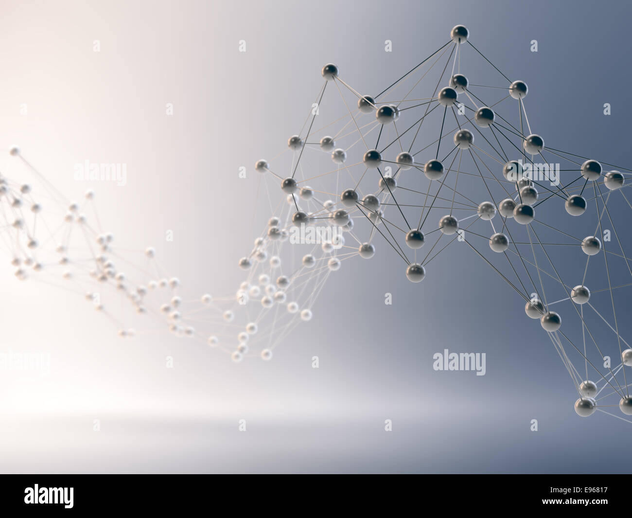 Abstract 3D, - communication et internet concept Photo Stock