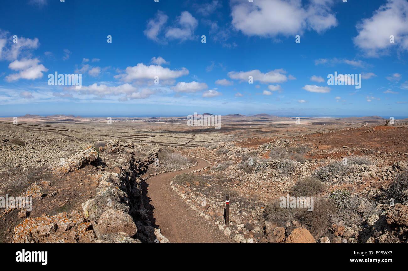 Fuerteventura - chemin de longue distance GR 131 Photo Stock
