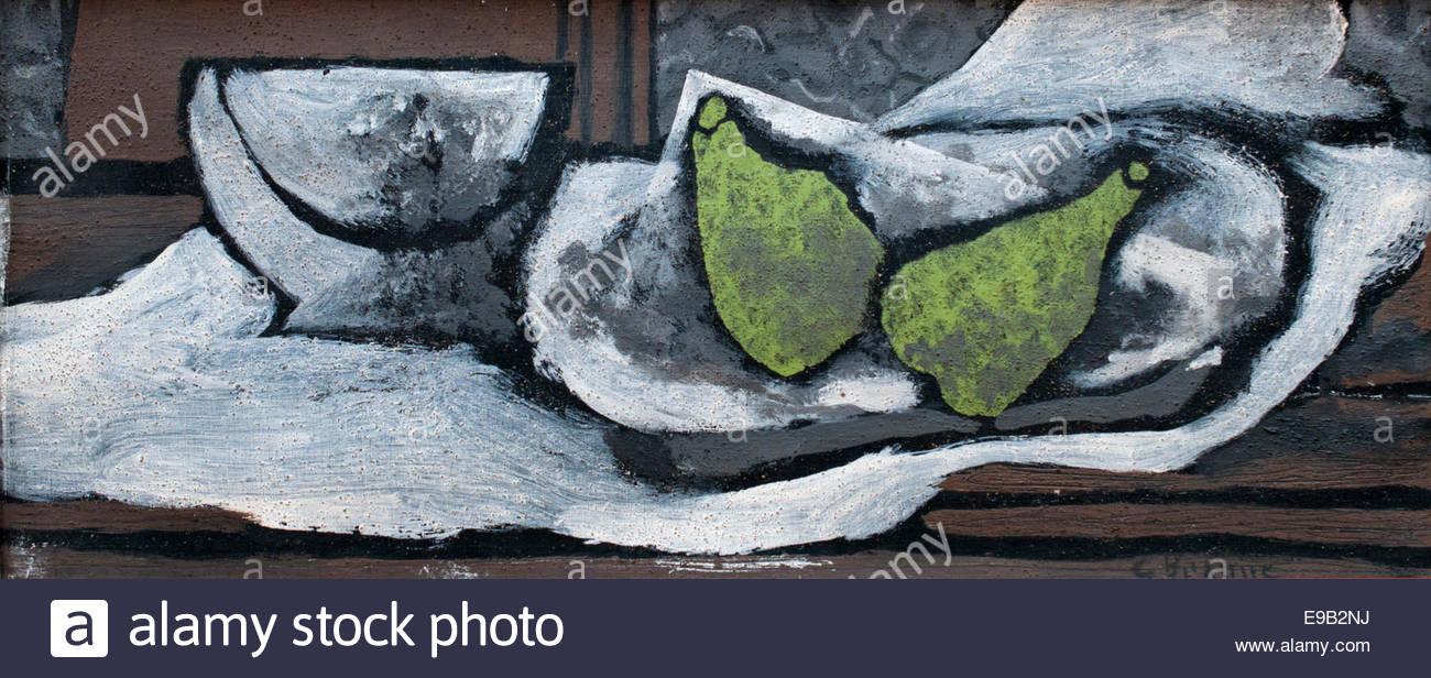 Nature morte aux poires 1922 avec George Braque 1882 - 1963 France Photo Stock
