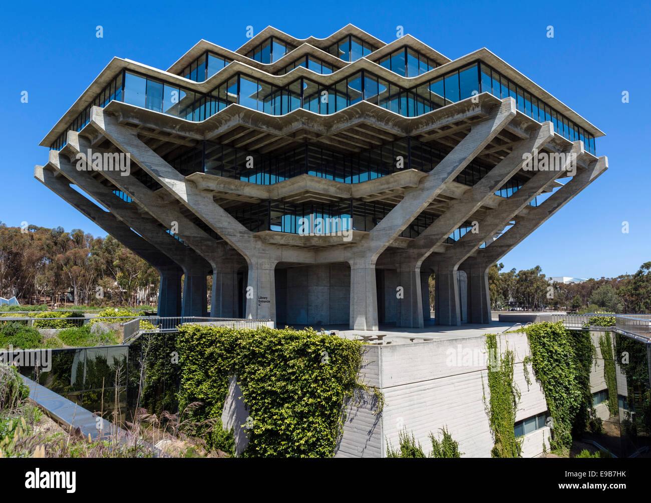La William Pereira conçu Geisel Library de l'Université de Californie à San Diego, La Jolla, Photo Stock