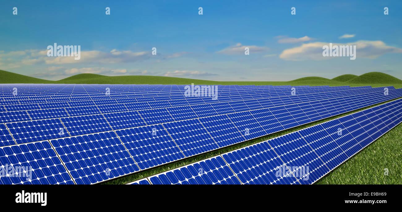 Panneaux solaires Photo Stock