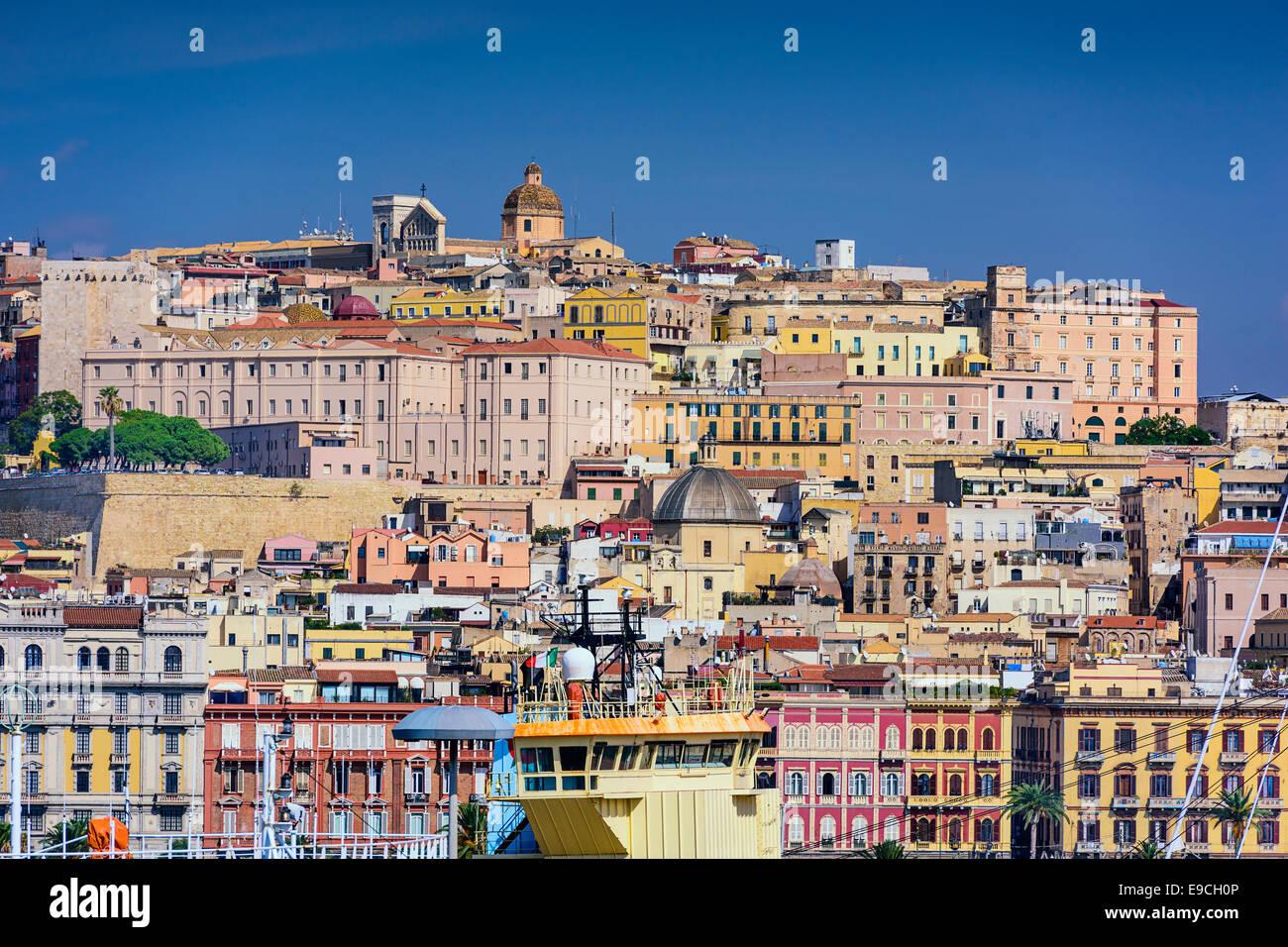 Cagliari, Sardaigne, Italie paysage urbain. Photo Stock