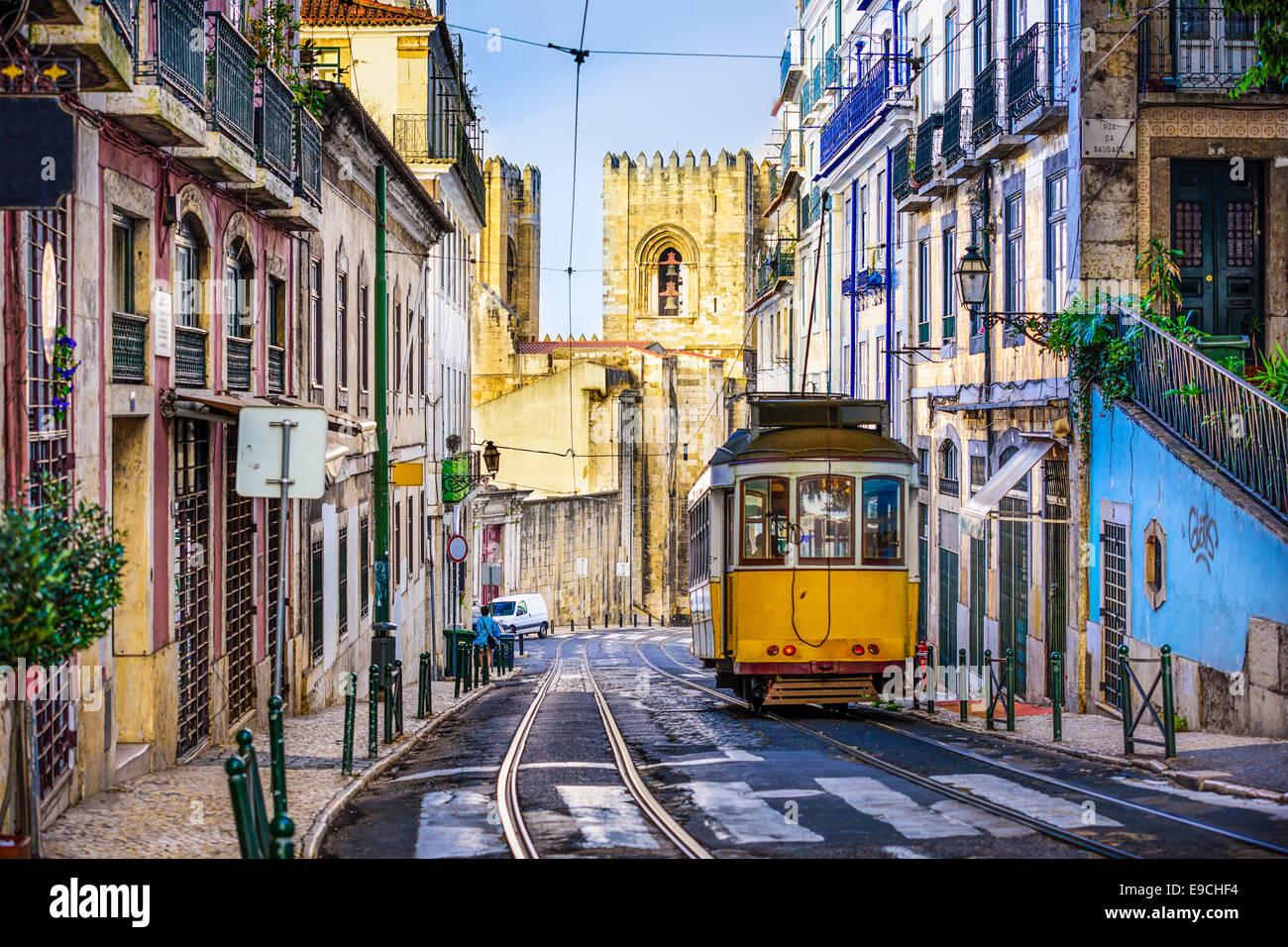 Lisbonne, Portugal tramway. Photo Stock