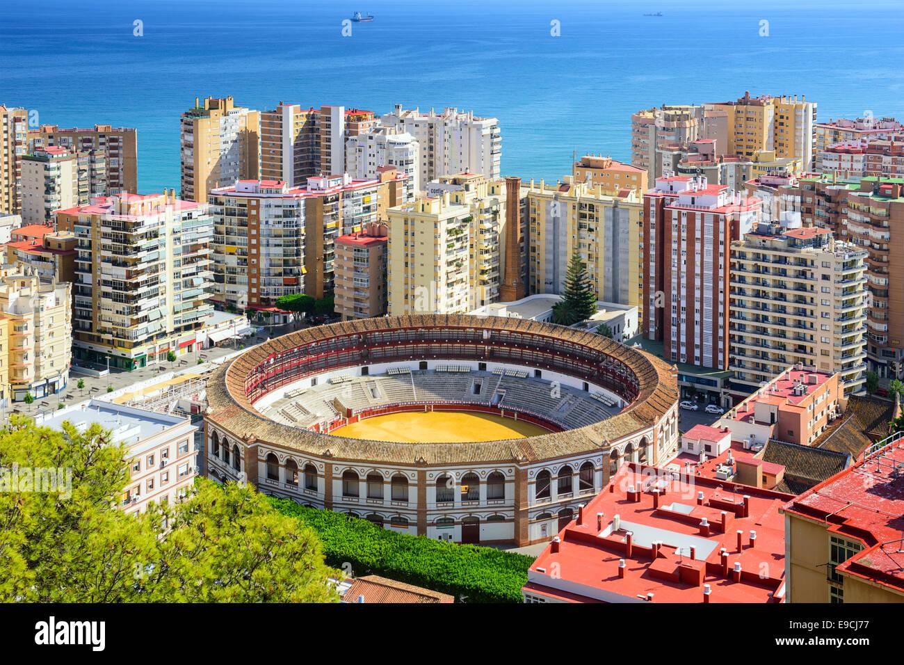 Malaga, Espagne cityscape à l'arène. Photo Stock