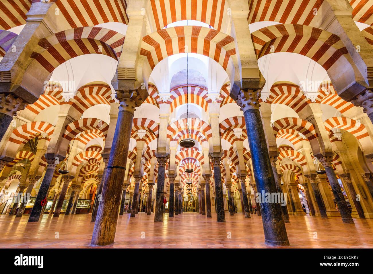 Cordoue, Espagne - circa 2014: Mosque-Cathedral de Cordoue. Le site fait l'objet de conversion d'une Photo Stock