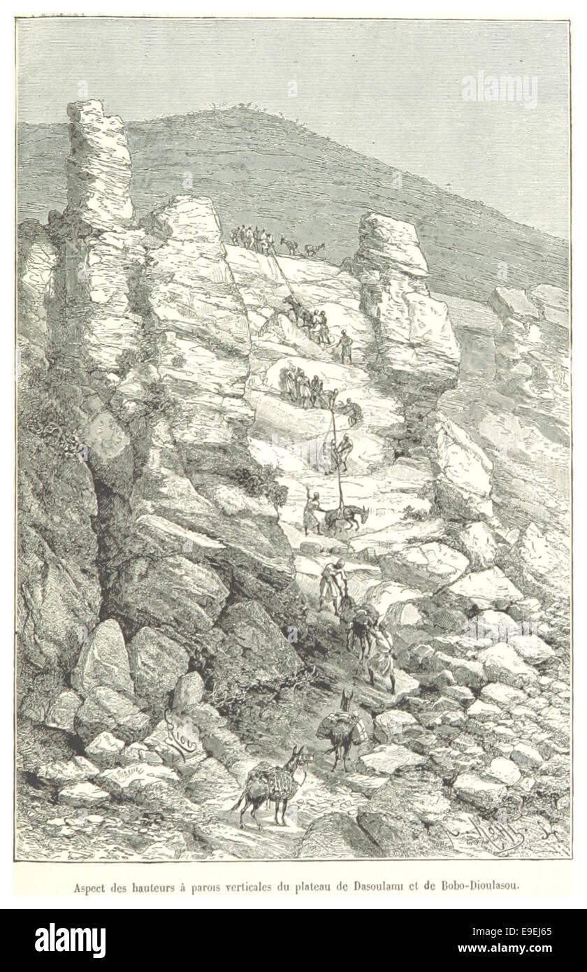 Pg377 Aspect des hauteurs C3A0 parois verticales du plateau de Dasoulami Bobo-Dioulasou et de Photo Stock