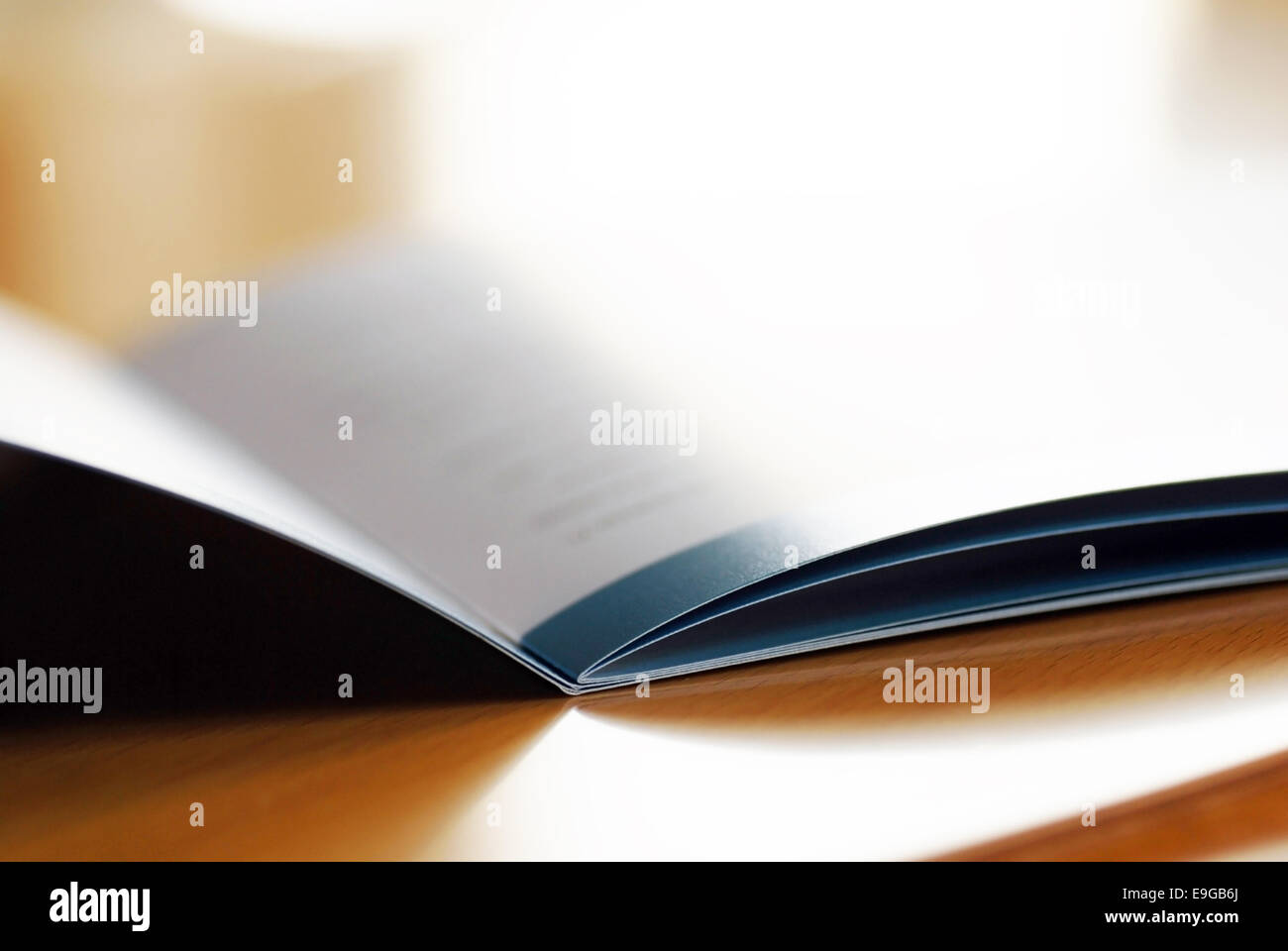 Brochure ouverte Photo Stock
