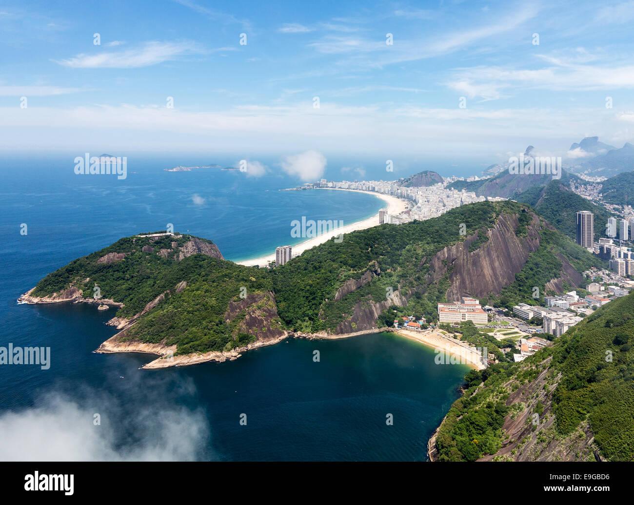 Harbour et les toits de Rio de Janeiro Brésil Photo Stock