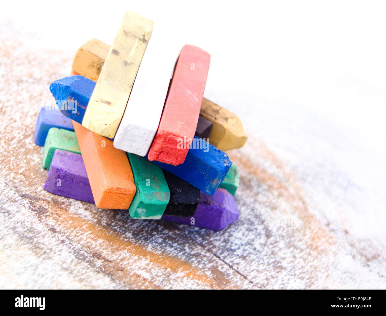Pastels artistiques colorées Photo Stock