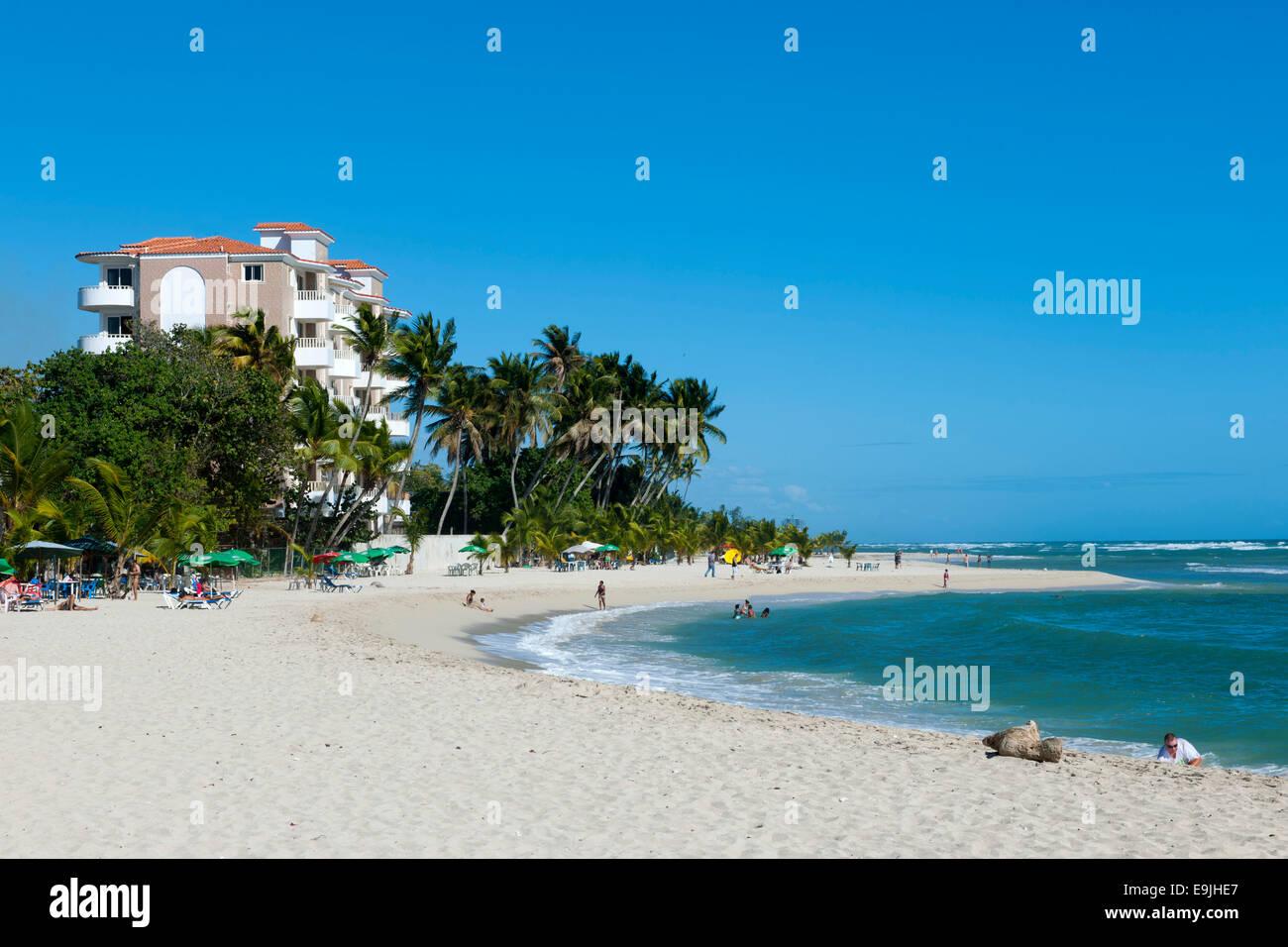 Dominikanische Republik, osten, juan dolio, guayacanes-strand Banque D'Images