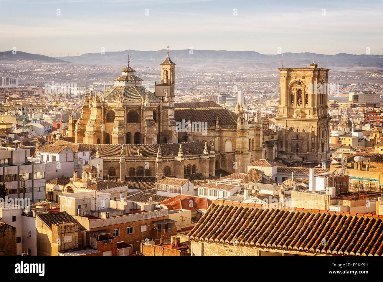 Grenade, La Cathédrale, Santa Iglesia Catedral Metropolitana de la Encarnación de Granada, La Cathédrale de l'Incarnation Banque D'Images