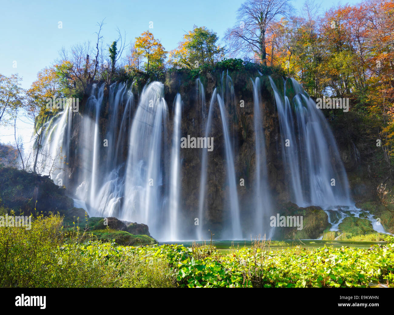 Le parc national des lacs de Plitvice, Croatie Photo Stock