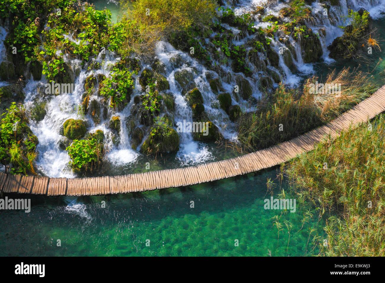 Le parc national des lacs de Plitvice, Croatie Photo Stock