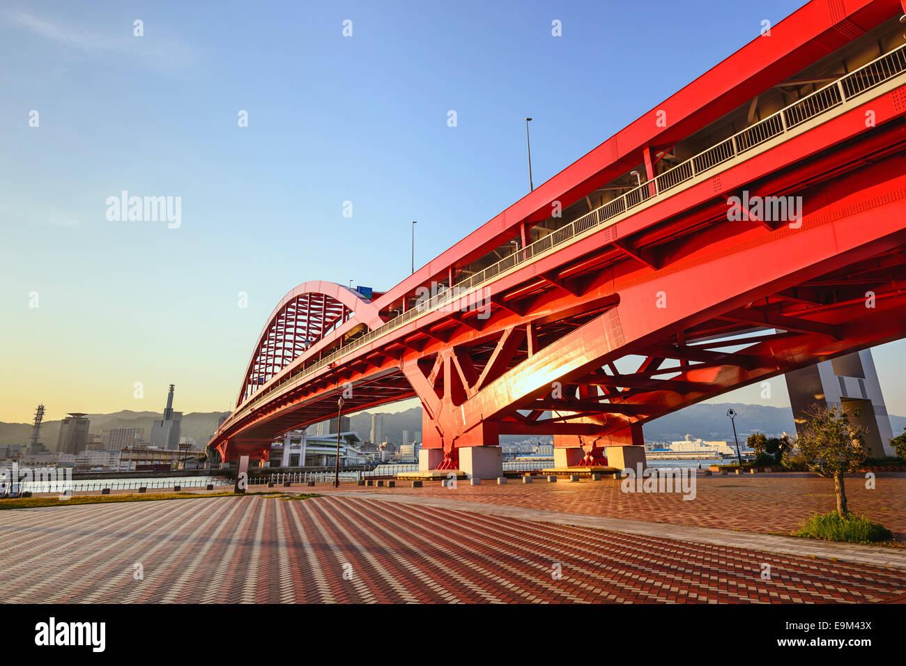 L'île de Port, Kobe, Japon. Photo Stock