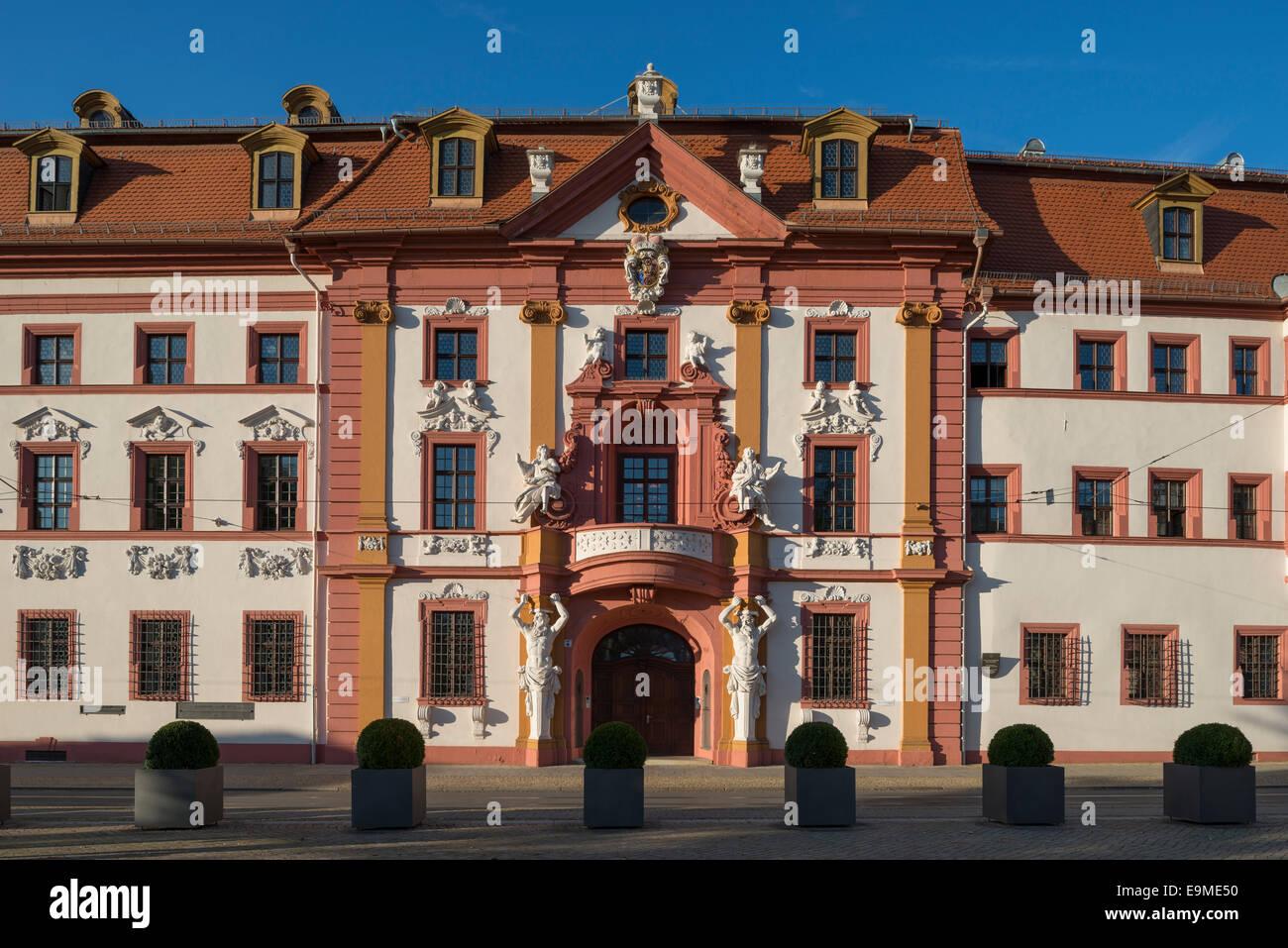 Chancellerie d'état de Thuringe, centre historique, Erfurt, Thuringe, Allemagne Photo Stock