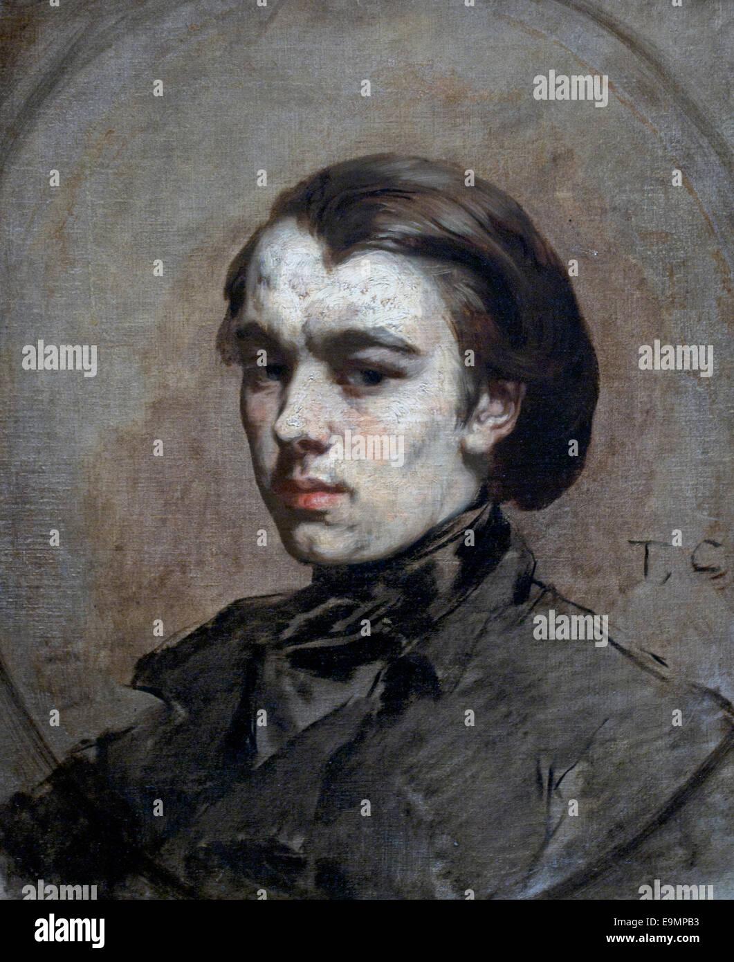 Henri Didier par Thomas Couture française France 1815-1879 Photo Stock