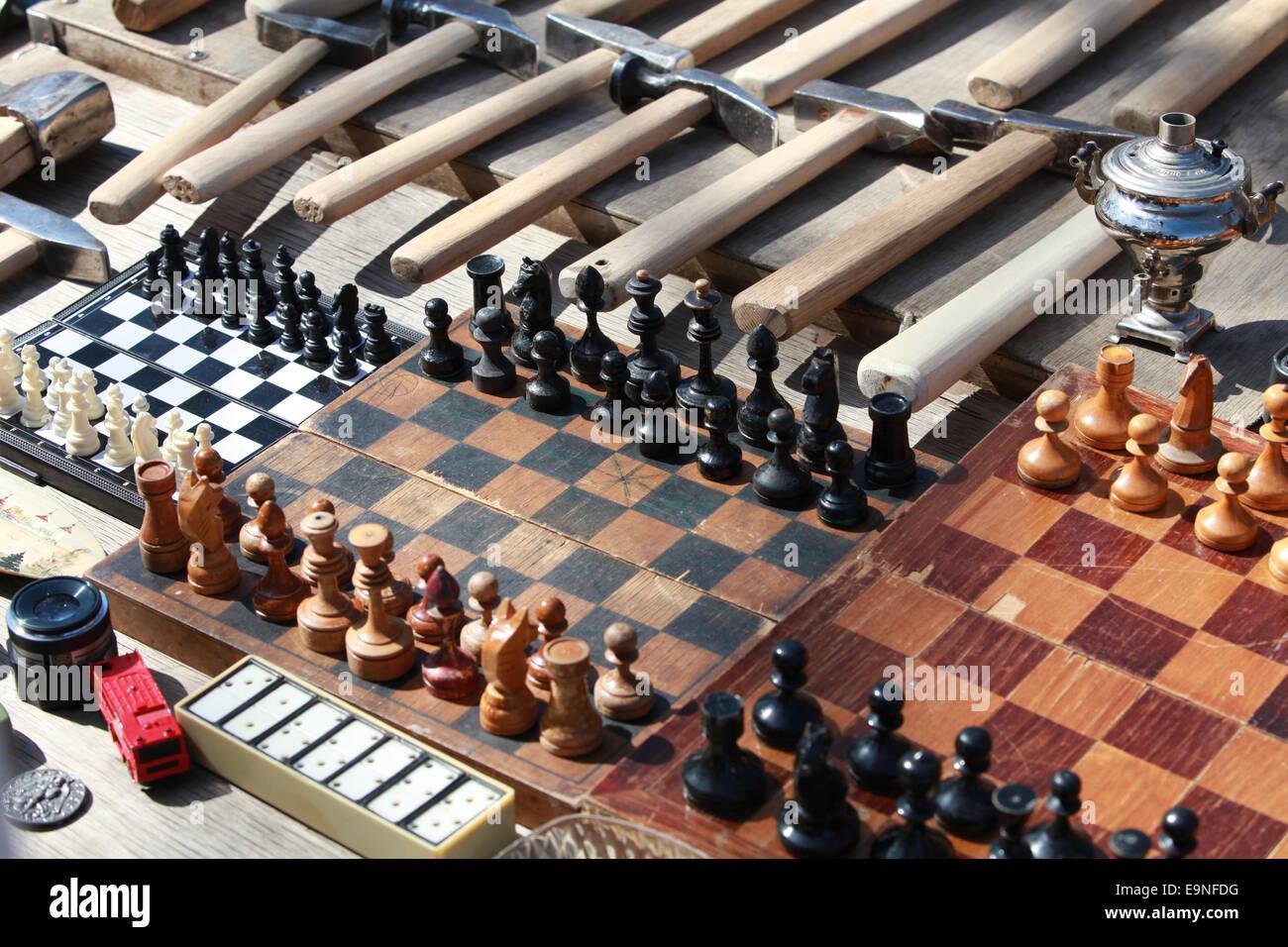 jeu d'échecs Banque D'Images