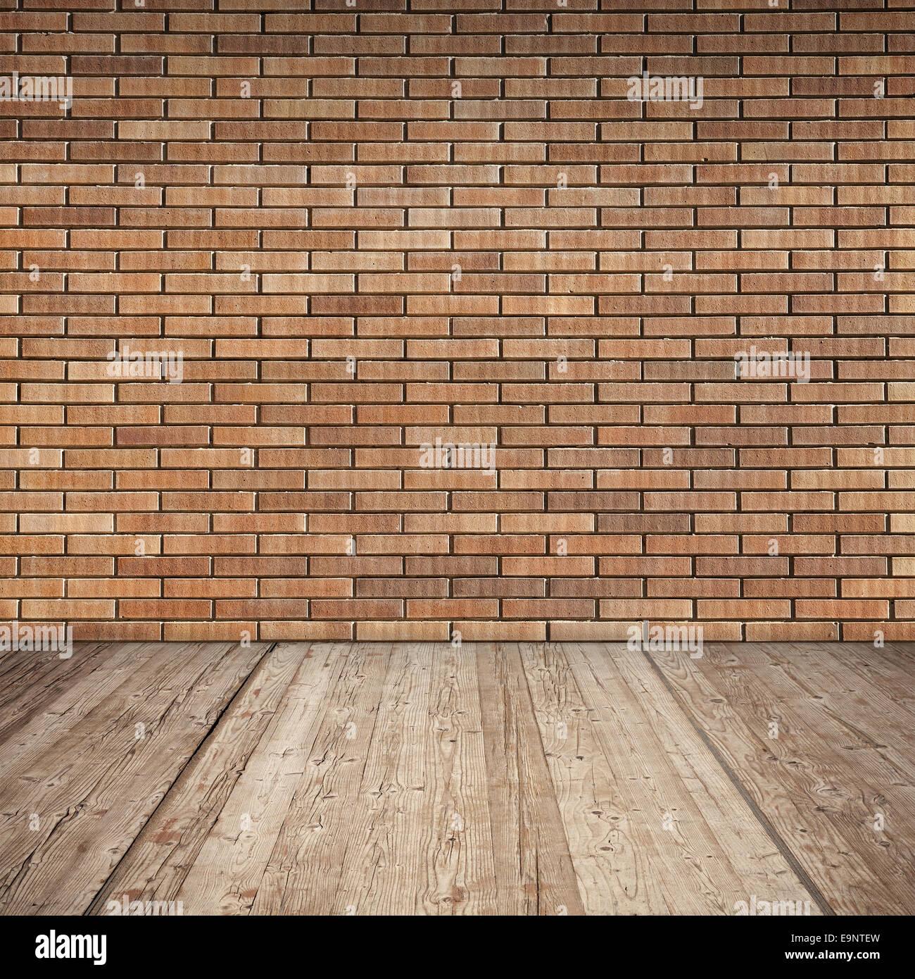 mur de brique rouge et de sol en bois texture de fond d. Black Bedroom Furniture Sets. Home Design Ideas