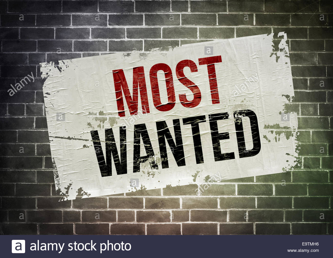 Most Wanted - concept de l'affiche Photo Stock