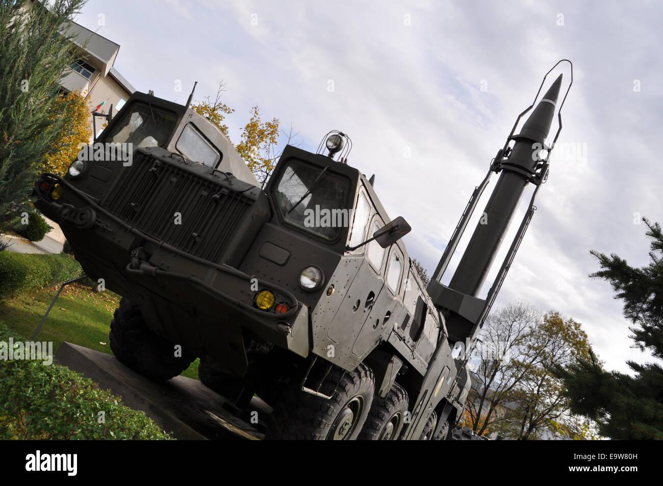 Musée militaire de Sofia, les missiles balistiques tactiques complexes, Frog Luna M Photo Stock