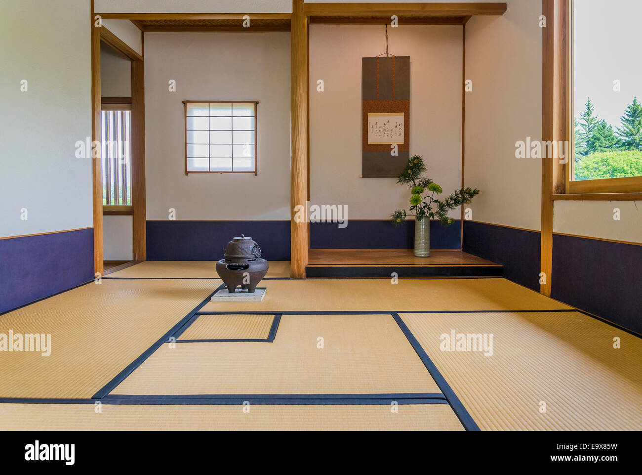 Salon japonais jardin japonais nikka yuko lethbridge alberta photo stock