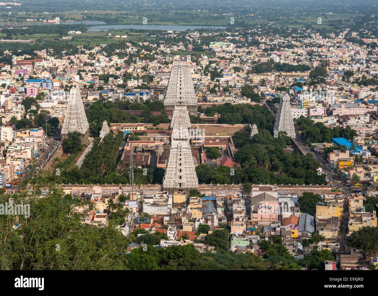 Temple Annamalaiyar Thiruvanamalaï dans. Photo Stock