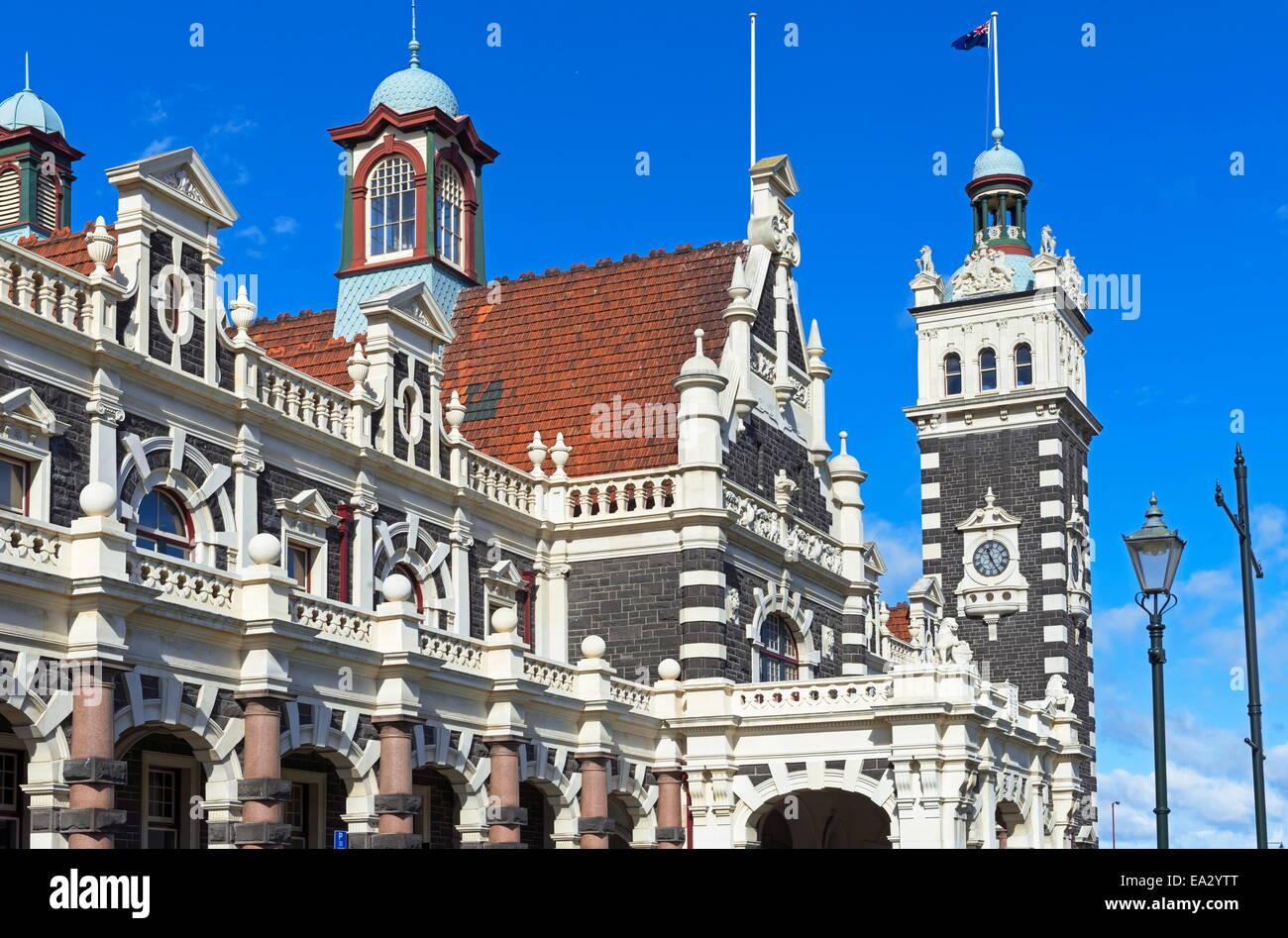 La gare de Dunedin, Dunedin, Otago, île du Sud, Nouvelle-Zélande, Pacifique Banque D'Images
