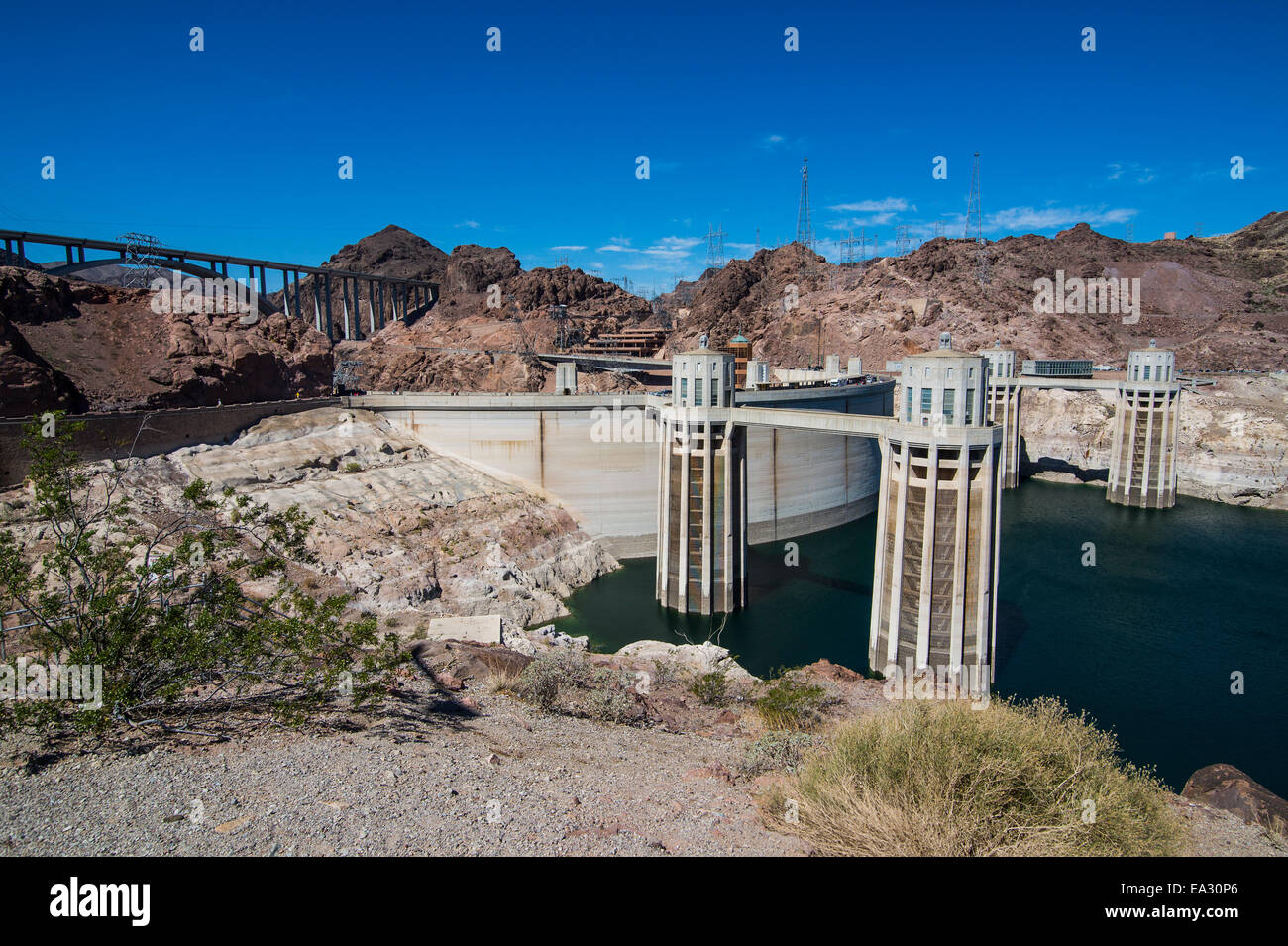 Le Barrage Hoover, Nevada, États-Unis d'Amérique, Amérique du Nord Photo Stock