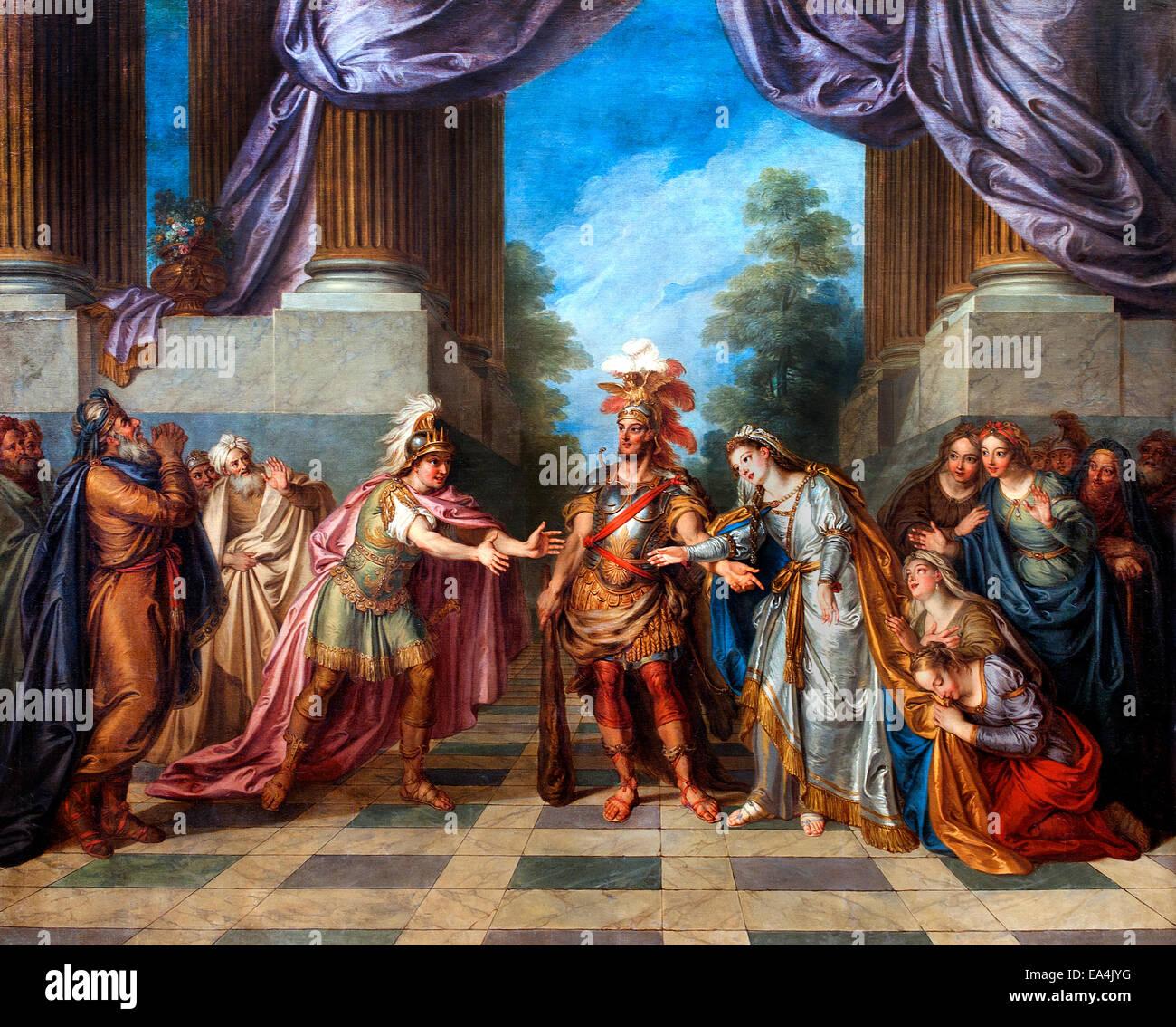 Hercules et Alcestis par Charles Antoine Coypel 1694-1752 France Français sauvé par Hadès Alcestis Photo Stock