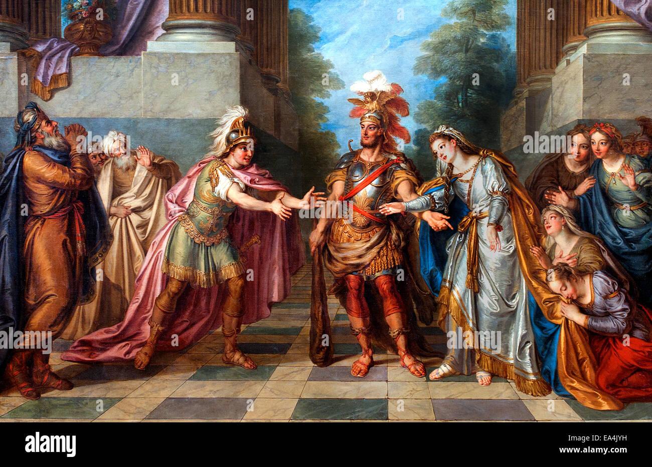 Hercules et Alcestis par Charles Antoine Coypel 1694-1752 Heracles français La France a secouru par Hadès Photo Stock